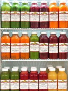 Bottles of Juice at Frazier Farms