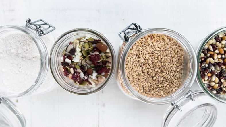 Bulk items from PCC can be purchased in reusable containers like these glass jars.