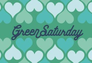 Green Saturday logo with hearts
