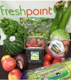Fresh produce available to those who choose to get a weekly organic produce box!