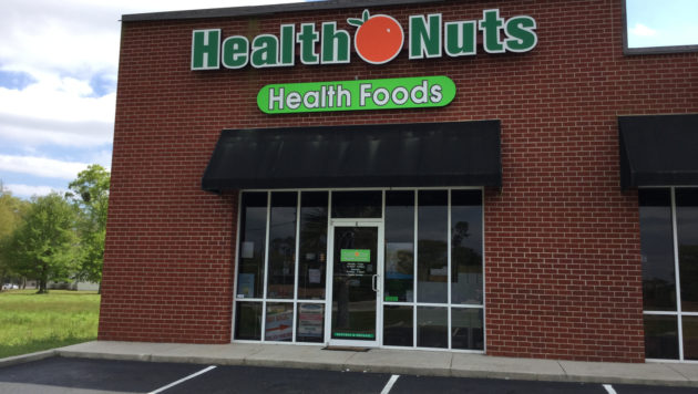 Store Front of Health Nuts Health Foods Store