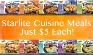 StarLite Cuisine Meals Just $5 Each!