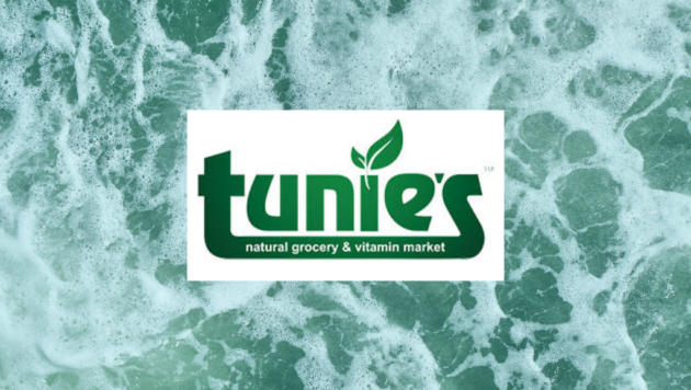 Tunie's Logo on Ocean Background