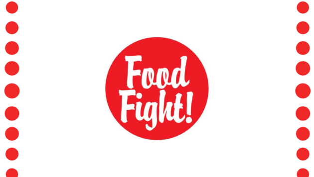 Food Fight! Grocery logo with border