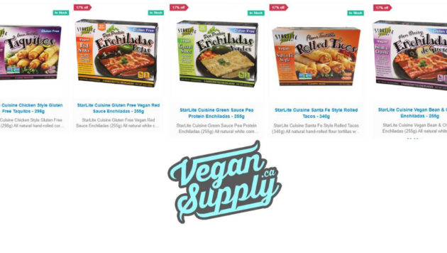 Vegan Supply.CA logo and StarLite Products on Sale